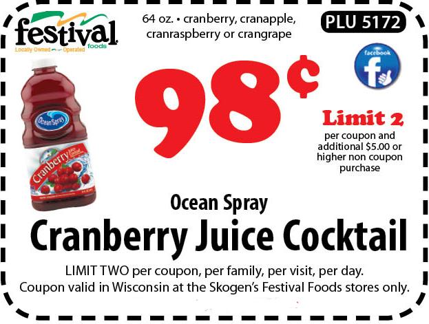 Ocean spray cranberry coupons printable 2018