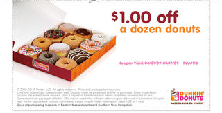 Dunkin Donuts Coupons - Printable freedozen donuts