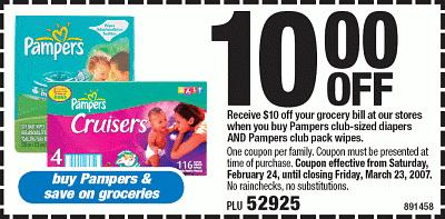 How to use a Pampers coupon