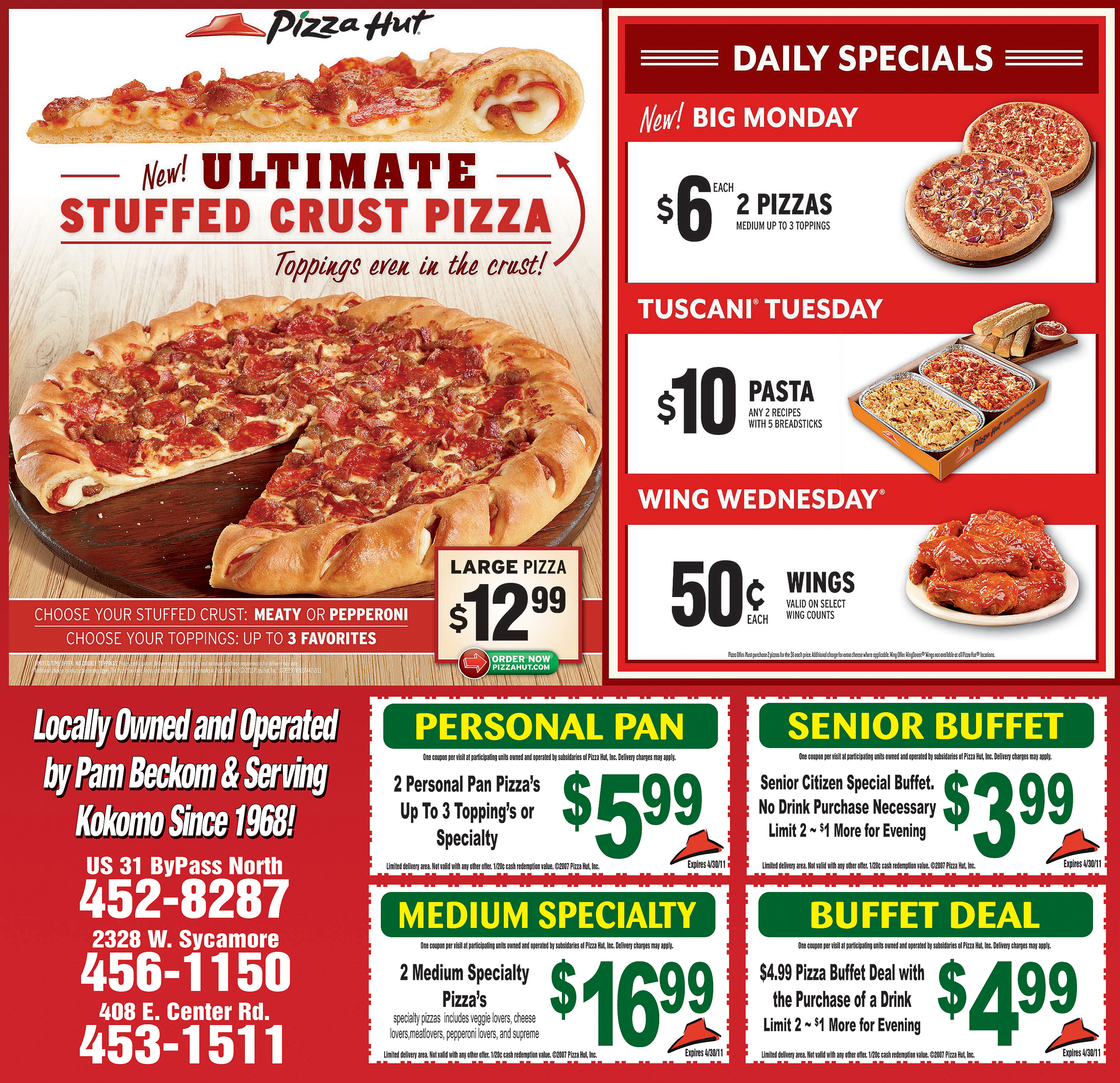 With this Pizza Hut promo code, get any pizza for $10 for a limited time. Pizza Hut Memorial Day Deals We cashed in every favor we could to get you early access the best Memorial Day deals out there! No need to thank us. We love you! This coupon expired on 06/01/ CST/5(13).