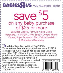 BabiesRUs Weekly Promo Codes & Sales
