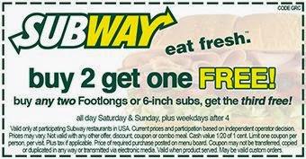 Printable subway coupons - Gordmans coupon code