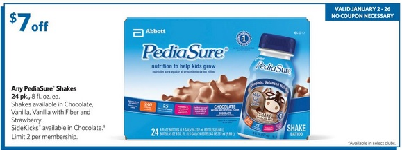 image about Pediasure Printable Coupon named totally free Pedia Absolutely sure discount coupons (3) Printable Coupon codes On-line