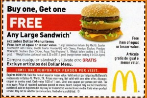 mcdonalds coupon codes 2015