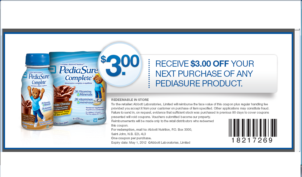 photograph relating to Pediasure Printable Coupon named print Pedia Yes steady coupon (1) Printable Coupon codes On-line