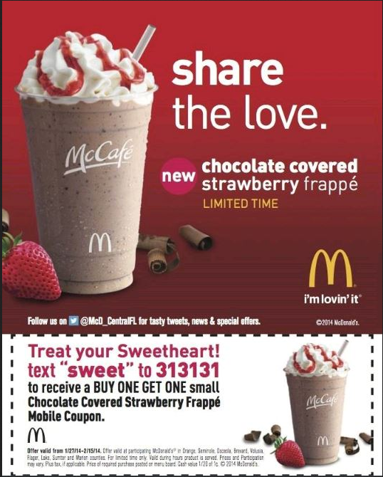 mcdonalds shake coupons