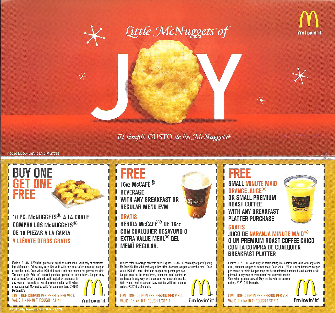 Gratis coupons mcdonalds