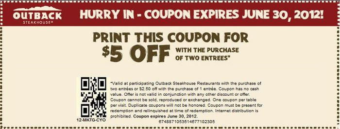 outback coupons online ordering