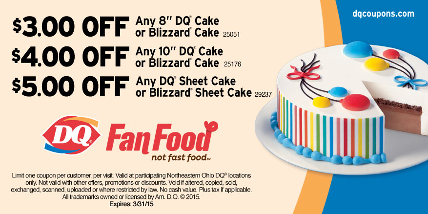 Dairy queen coupon cake Staples hp ink coupons 2018