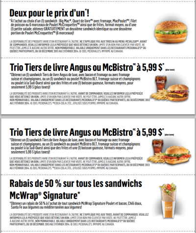 coupons mcdo suisse