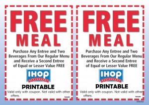 picture relating to Ihop Printable Menu identified as iHop Printable coupon codes no cost obtain (5) Printable Discount codes