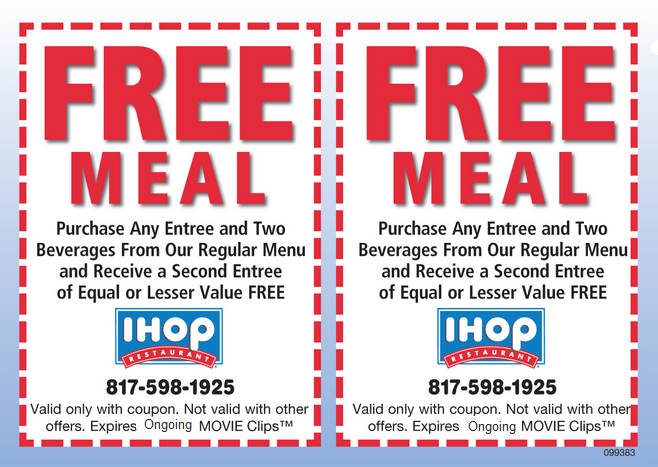 the best ihop printable coupons