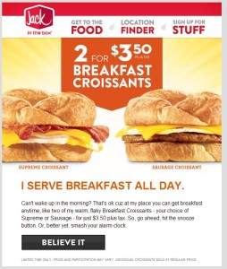 Image with jack in the box printable coupons printable coupons retail