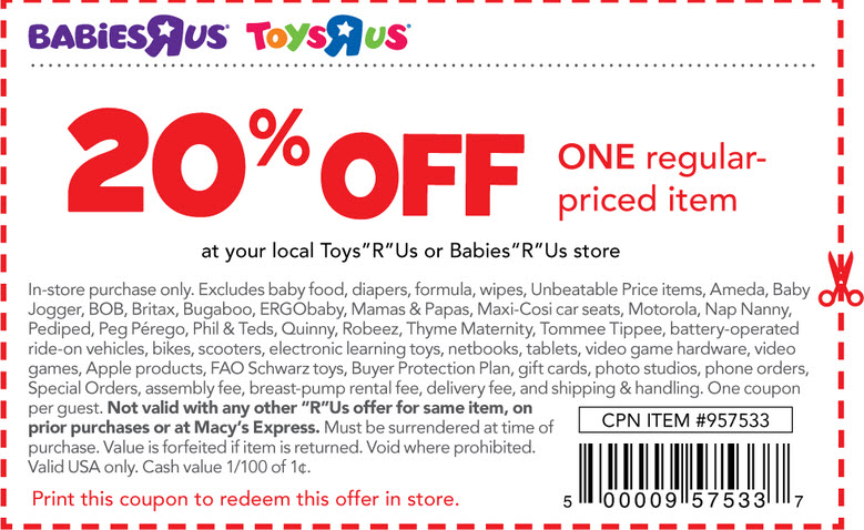 Get up to 70% off with Cyber Clearance Savings and save with online-only specials on the best baby products. Discount toys, kids' puzzles, electronics, video games and action figures let you bring play time to life for less. Use Babies R Us coupon codes to score the best deals on kids' bikes, scooters and ride-on toys for your tots.