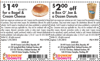 Dunkin Donurs Coffee Coupons and Donuts 2 Dunkin Donuts Coffee Couponsprintable