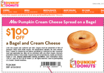 Dunkin donuts mobile coupons