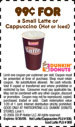 Dunkin Donuts Promo Codes Coupons (3) – Printable Coupons ...