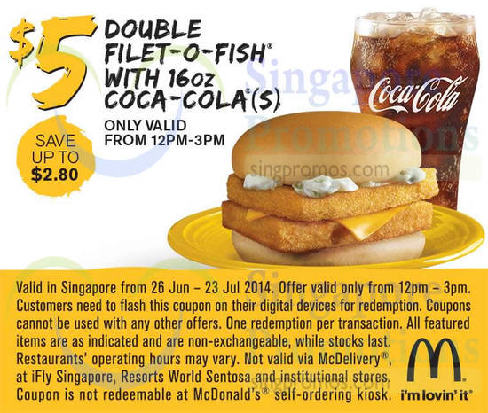 USE A MCDONALD'S DISCOUNT COUPON FOR FREE. Click on any deal to you like to see the McDonald's coupon code and to be taken to the official website where you can browse menu items. Check the menu for burgers and sandwiches, salads & wraps, snacks & sides, desserts & shakes, and read nutritional information.