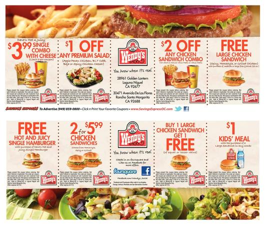 picture regarding Printable Wendys Application called Wendys Coupon codes Promo Codes