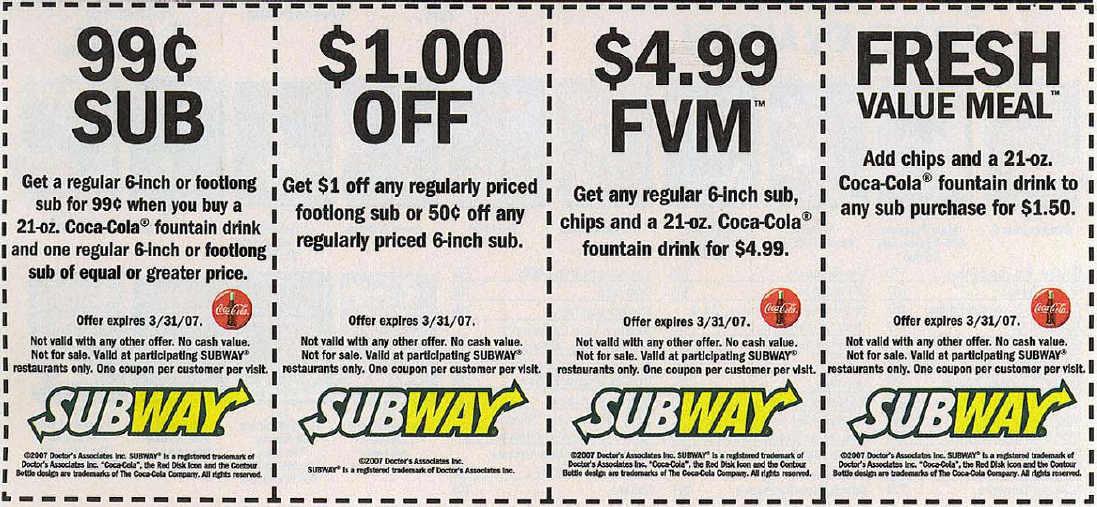 subway mobile coupon codes for menu items 5