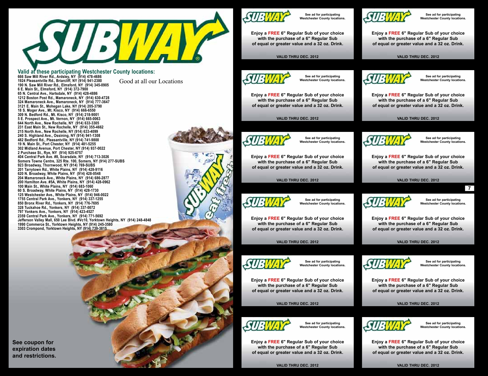 graphic relating to Subway Menu Printable referred to as absolutely free Subway Menu Discount coupons (8) Printable Discount codes On the web