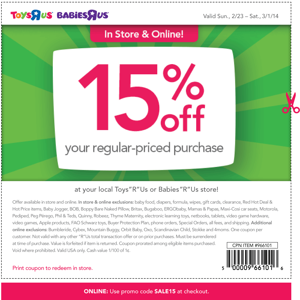 Babies r us discount coupons