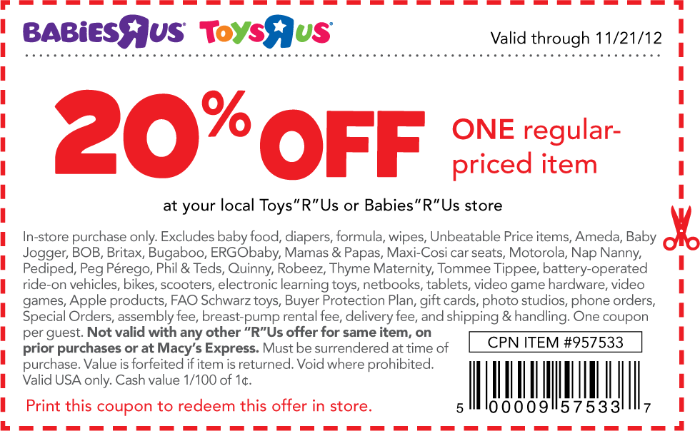 Babies R Us And Kids R Us Coupons Valid And New 5