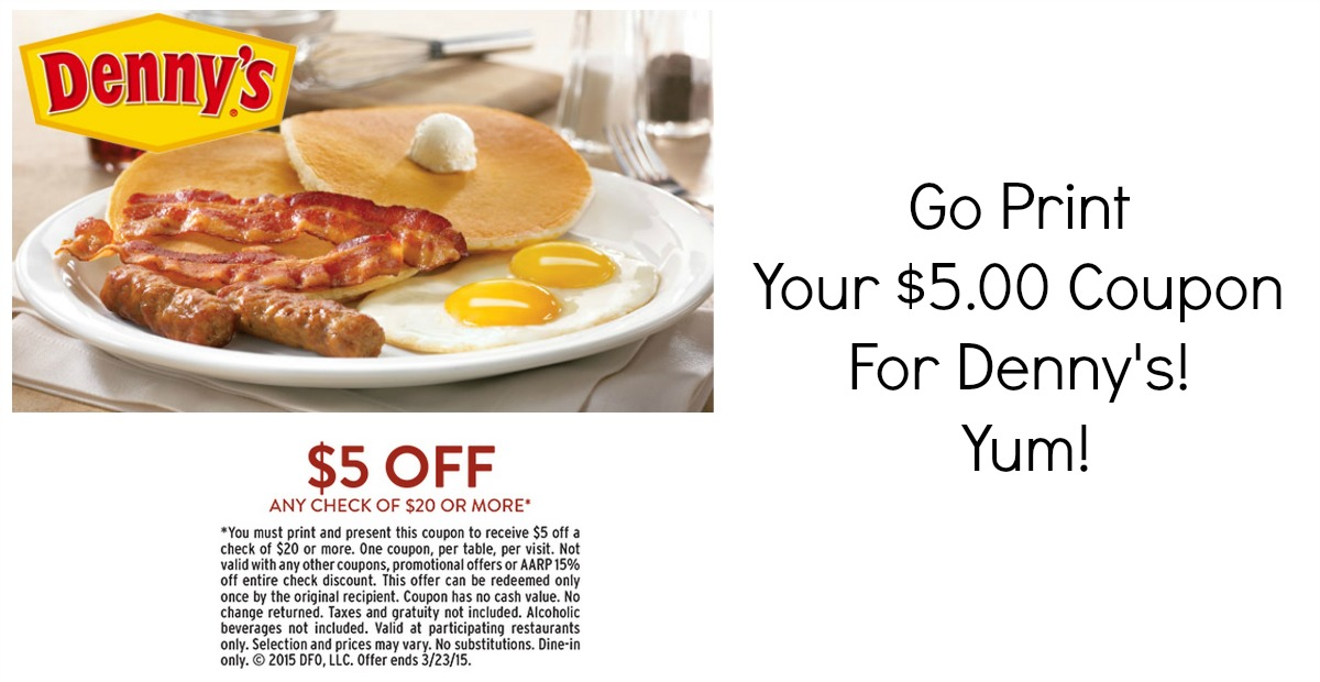 Denny's breakfast coupons