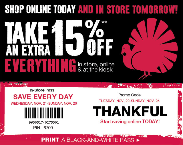 Black Friday Coupons Nov 27 2015 Retail Stores Usa 1