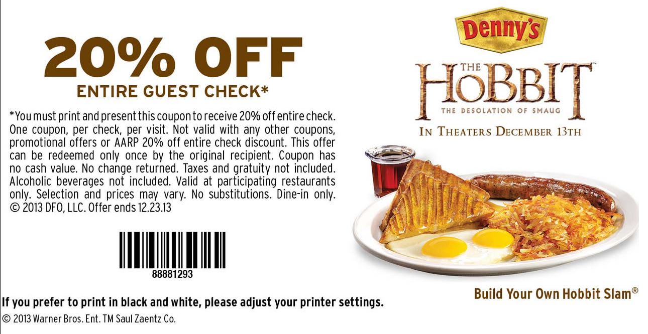 Dennys coupons august 2019