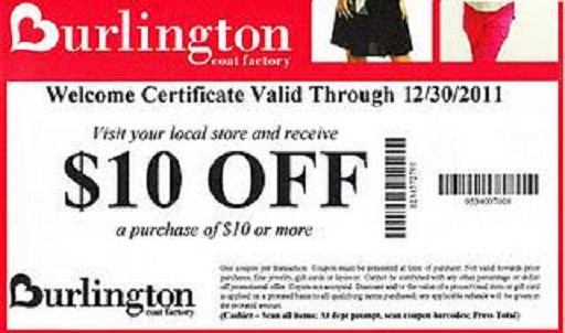 Burlington coat factory coupon code