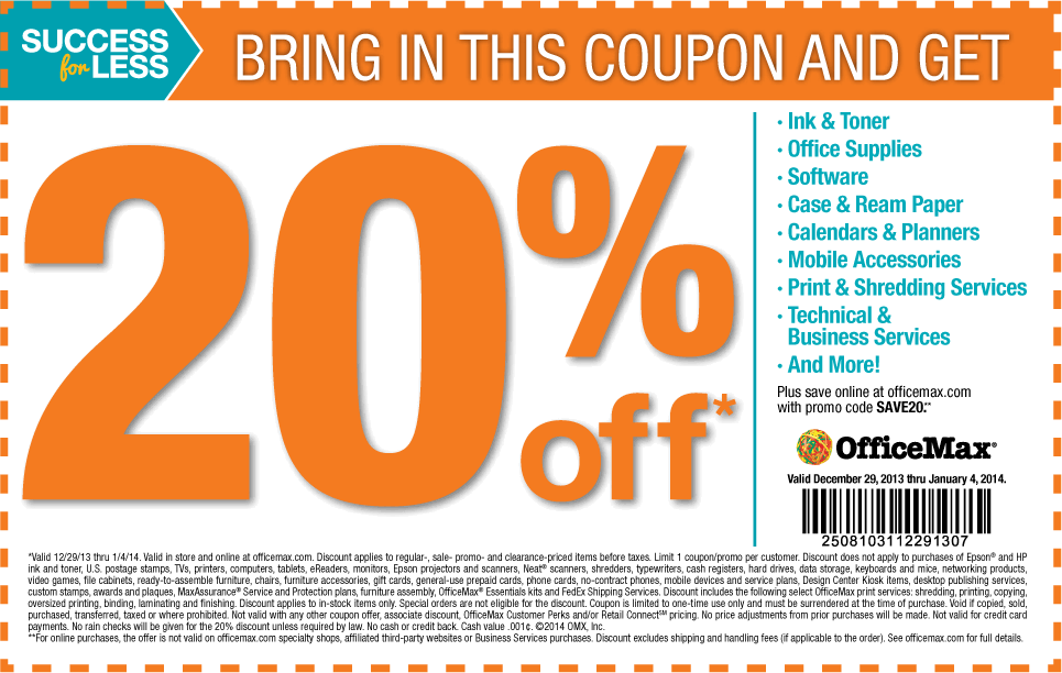 New Officemax Coupons 30 Off