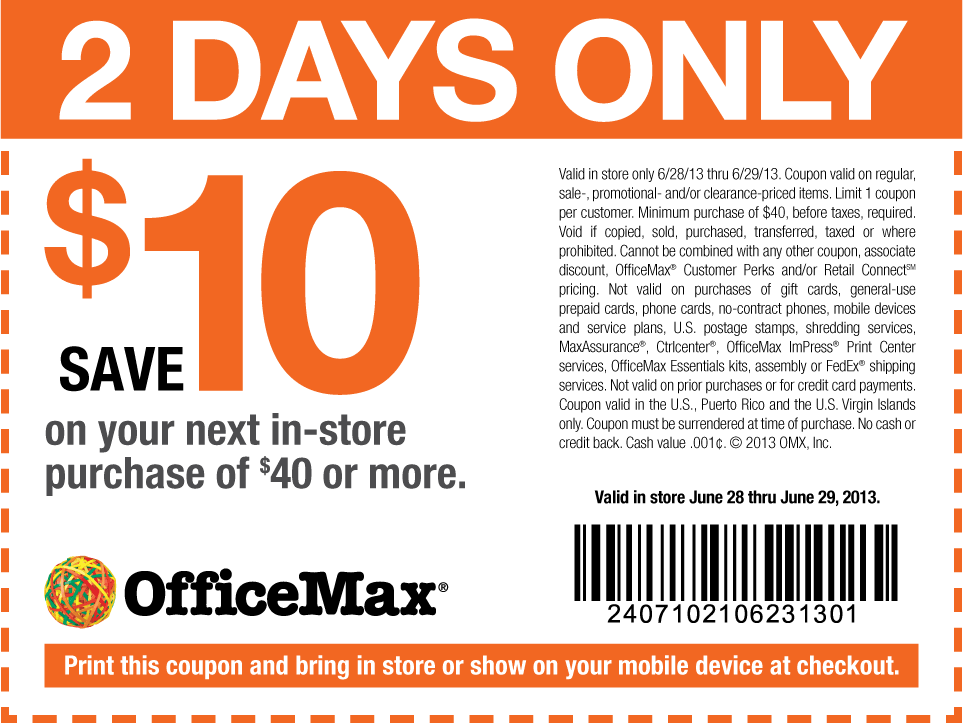 Coupons office depot 2019