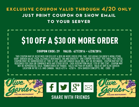 Olive Garden Coupons – Free 2015 (2)