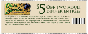 Olive garden coupons august 2019