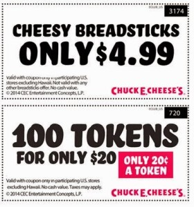 Chuck e cheese party coupons 2018