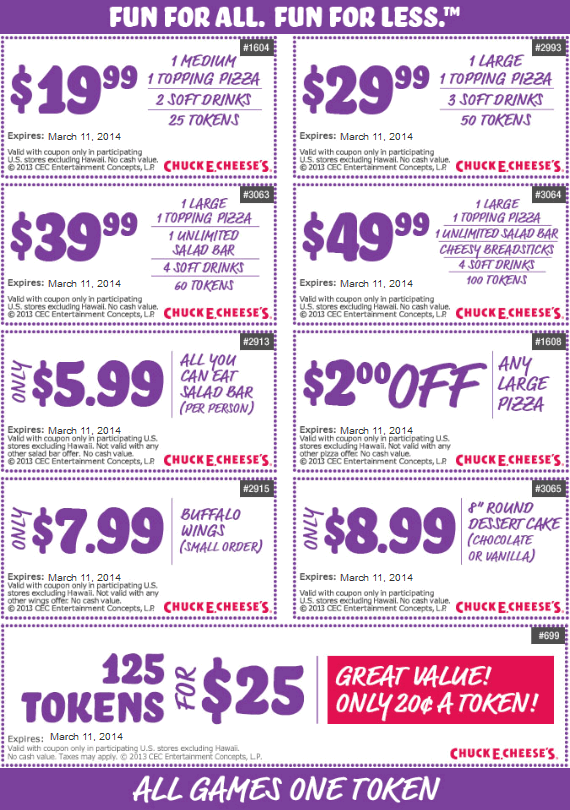 photograph about Chuck E Cheese Coupon Printable identified as Mobile phone discount coupons for chuck e cheese : August 2018 Promotions