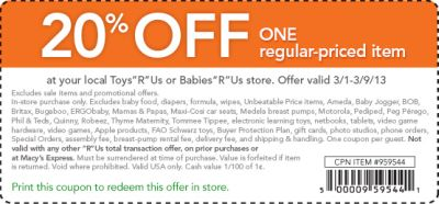 picture regarding Baby R Us Coupons Printable named Toddlers r us discount codes 20 off : Mt ethereal nc mattress and breakfast