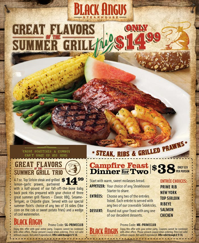 Black angus steakhouse coupons