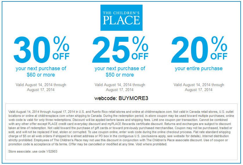 Childrensplace coupon codes