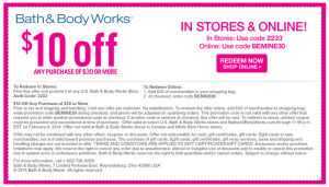 10 percent off retail 2015 codes perfumes for women coupon samples bath n body works