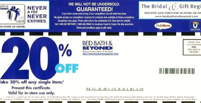 Mobile Bed Bath And Beyond Coupon