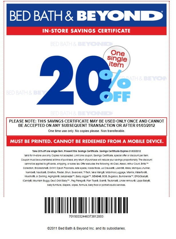 Bed bath and beyond coupon mobile