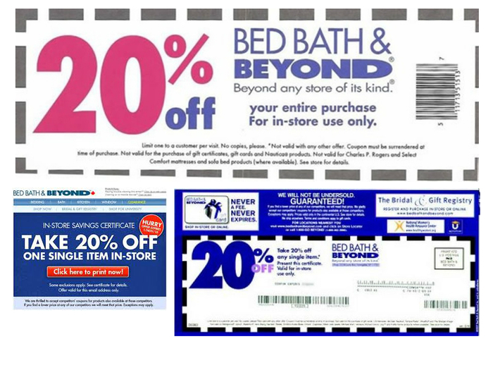 Bed bath and beyond online coupon code may 2018