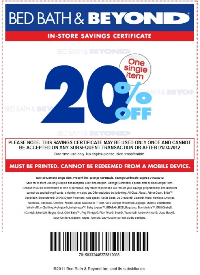 Bed Bath And Beyond Mobile Coupon In Store