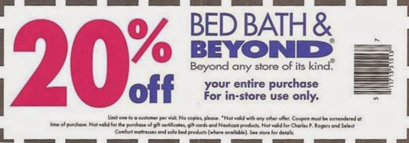 20 Off Coupon For Bed Bath And Beyond #1 Bed Bath And Beyond Coupon Code ...
