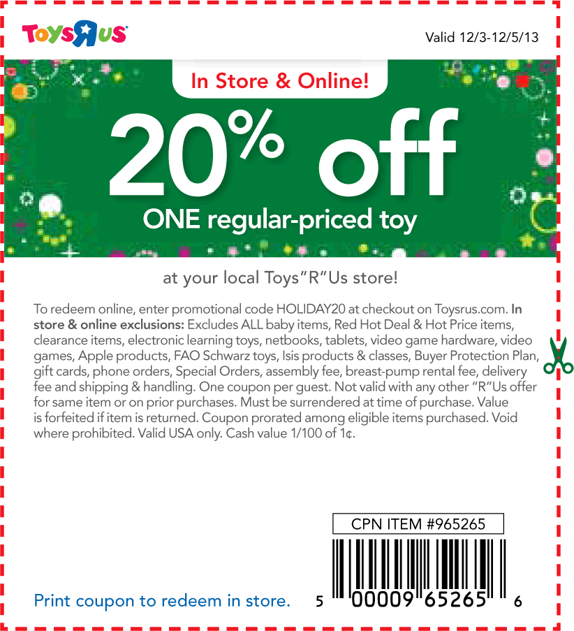 Toys r us toy coupons printable