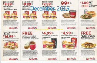 Wendys coupons december 2015