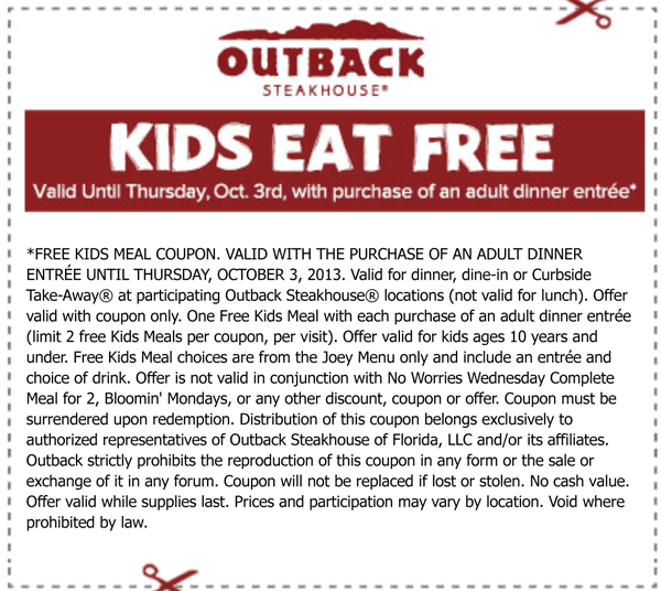 outback delivery promo code