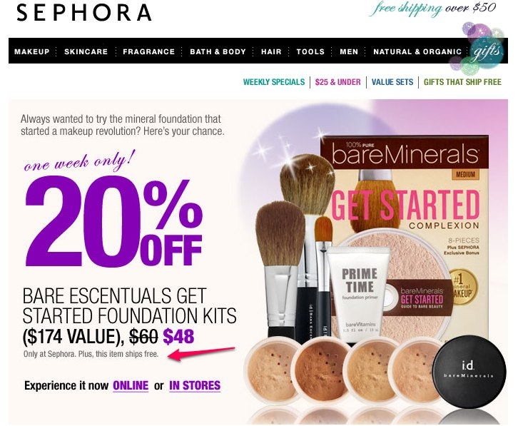 Today's top Sephora promo code: Up to $25 Off With $75 Purchase. Find 50 Sephora coupons and promo codes for December. RetailMeNot, the #1 coupon destination.